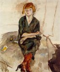 young english woman by jules pascin painting
