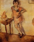 jules pascin young girl in a dress painting