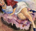 jules pascin young girl reclining painting