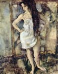 young girl standing by jules pascin painting