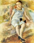 jules pascin young woman with a little dog art