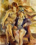 zimette and mirelle by jules pascin painting