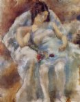 jules pascin zinah with flowers painting 29775