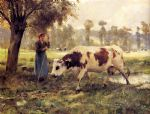 julien dupre famous paintings - cows at pasture by julien dupre
