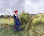 julien dupre famous paintings - haymaking by julien dupre