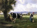 julien dupre art - milking hour by julien dupre