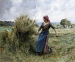 julien dupre art - peasant with hay by julien dupre