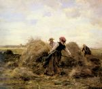 the harvesters by julien dupre painting