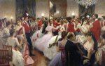 julius leblanc stewart a hunt ball painting
