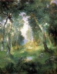 julius leblanc stewart watercolor paintings - forest glade santa barbara by julius leblanc stewart
