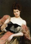 julius leblanc stewart watercolor paintings - portrait of a lady by julius leblanc stewart