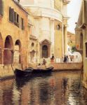julius leblanc stewart watercolor paintings - rio della maddalena by julius leblanc stewart