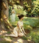 sunlight by julius leblanc stewart watercolor paintings