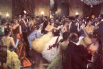 the ball by julius leblanc stewart watercolor paintings