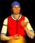 female worker in red by kasimir malevich famous paintings