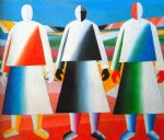 girls in the field by kasimir malevich famous paintings