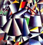 peasant woman dynamic by kasimir malevich famous paintings