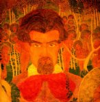self portrait ii by kasimir malevich painting