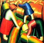 taking in the rye by kasimir malevich famous paintings
