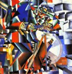kasimir malevich watercolor paintings - the knifegrinder by kasimir malevich