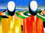 kasimir malevich watercolor paintings - two peasants by kasimir malevich