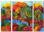 landscape original paintings - autumn wind by landscape