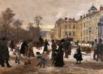 leon joseph voirin a winter s day print