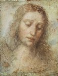 leonardo da vinci watercolor paintings - head of christ by leonardo da vinci