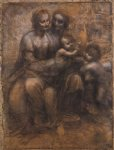 madonna and child with st anne and the young st john by leonardo da vinci prints