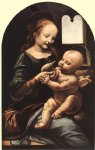 leonardo da vinci watercolor paintings - madonna with flower by leonardo da vinci