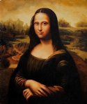 leonardo da vinci watercolor paintings - mona lisa iv by leonardo da vinci