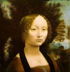 leonardo da vinci watercolor paintings - portrait of ginevra benci by leonardo da vinci