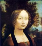 leonardo da vinci portrait of ginevra de benci paintings