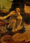 leonardo da vinci watercolor paintings - saint jerome by leonardo da vinci