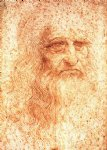 leonardo da vinci watercolor paintings - self portrait by leonardo da vinci
