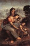 leonardo da vinci watercolor paintings - the virgin and child with st anne by leonardo da vinci