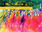 leroy neiman original paintings - 125th preakness stakes by leroy neiman