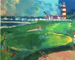 leroy neiman art - 18th at harbourtown by leroy neiman