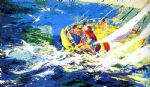aegean sailing by leroy neiman painting