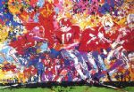 leroy neiman art - alabama hand off by leroy neiman