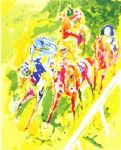leroy neiman art - along the rail by leroy neiman