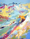 alpine skiing by leroy neiman painting