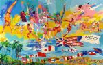 american acrylic paintings - american gold by leroy neiman