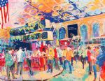 american acrylic paintings - american stock exchange by leroy neiman