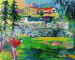 leroy neiman art - amphitheatre at rivera by leroy neiman