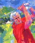 arnold palmer at latrobe by leroy neiman painting