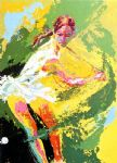 backhand chris evert by leroy neiman paintings