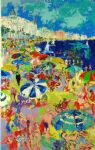 leroy neiman beach at cannes painting 77526