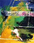 blood tennis by leroy neiman painting