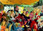 leroy neiman cafe rive gauche painting